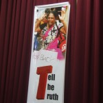 """Give Back: Tell the Truth"" ~ banner by the Northern Tamil families of the disappeared"