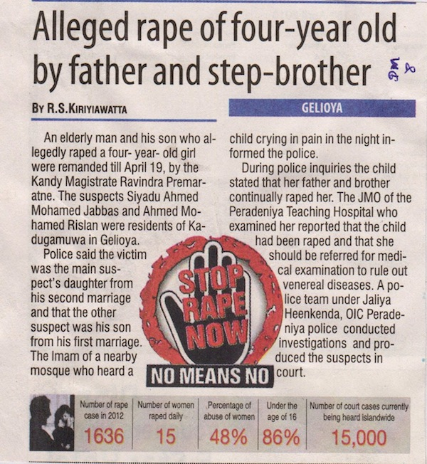 4 year old rape - Daily Mirror 18-04-2013
