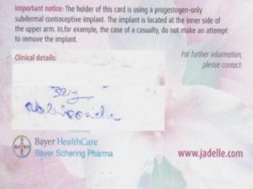 September 12 - medical card for TSA piece